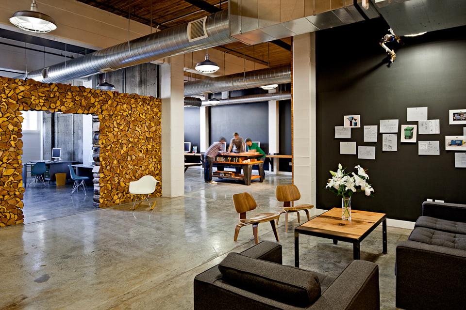 И бетона для создания уютного офиса